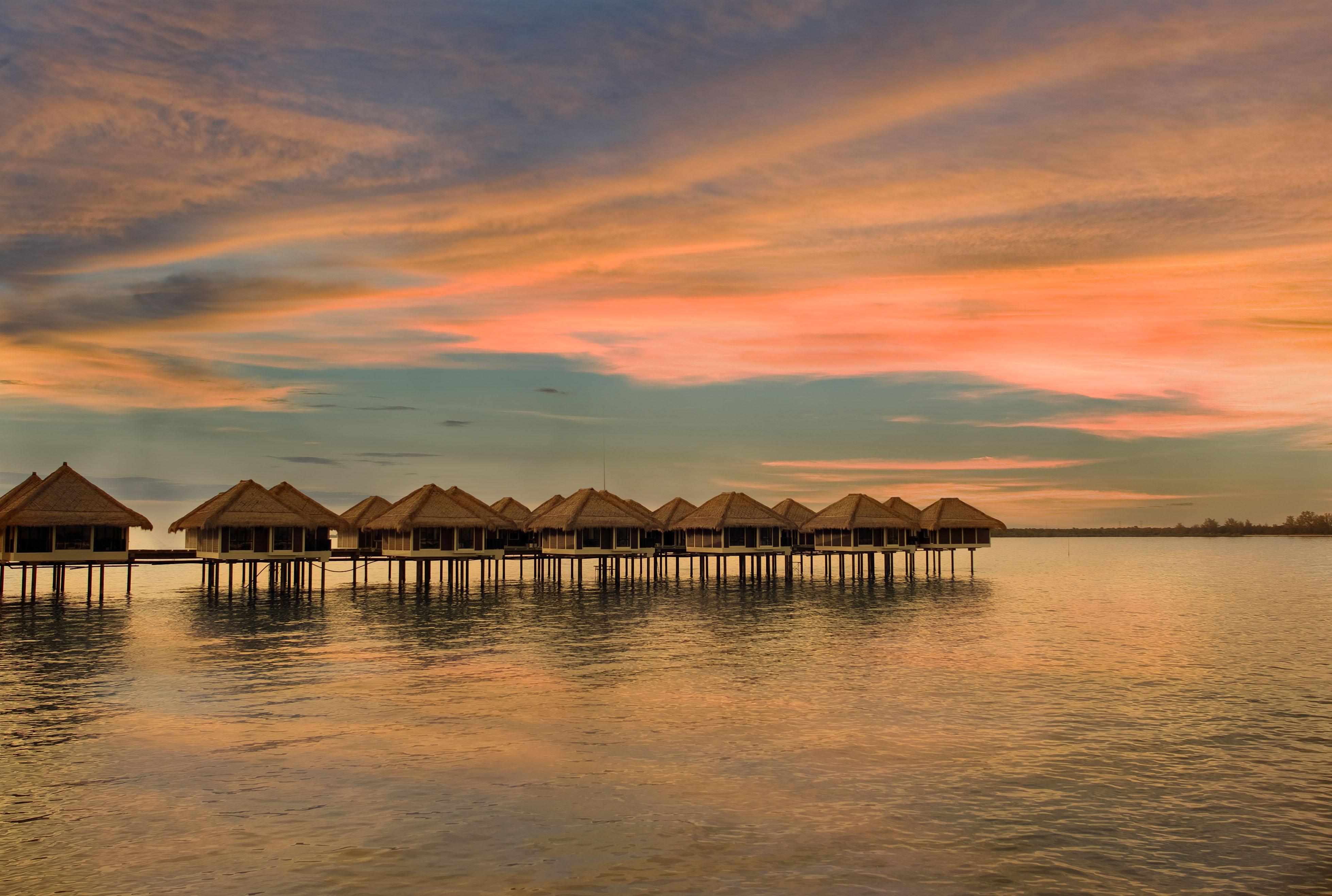AVANI Sepang over water villa sunset view